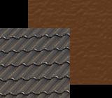 Szary dach w polaczeniu z odcieniami elewacji od bieli po braz