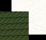 Zielony dach w polaczeniu z cieplymi kolorami zolci i bezowymi