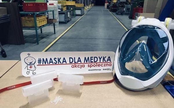 Velux przerabia maski dla personelu medycznego