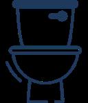 Spłukiwanie toalety